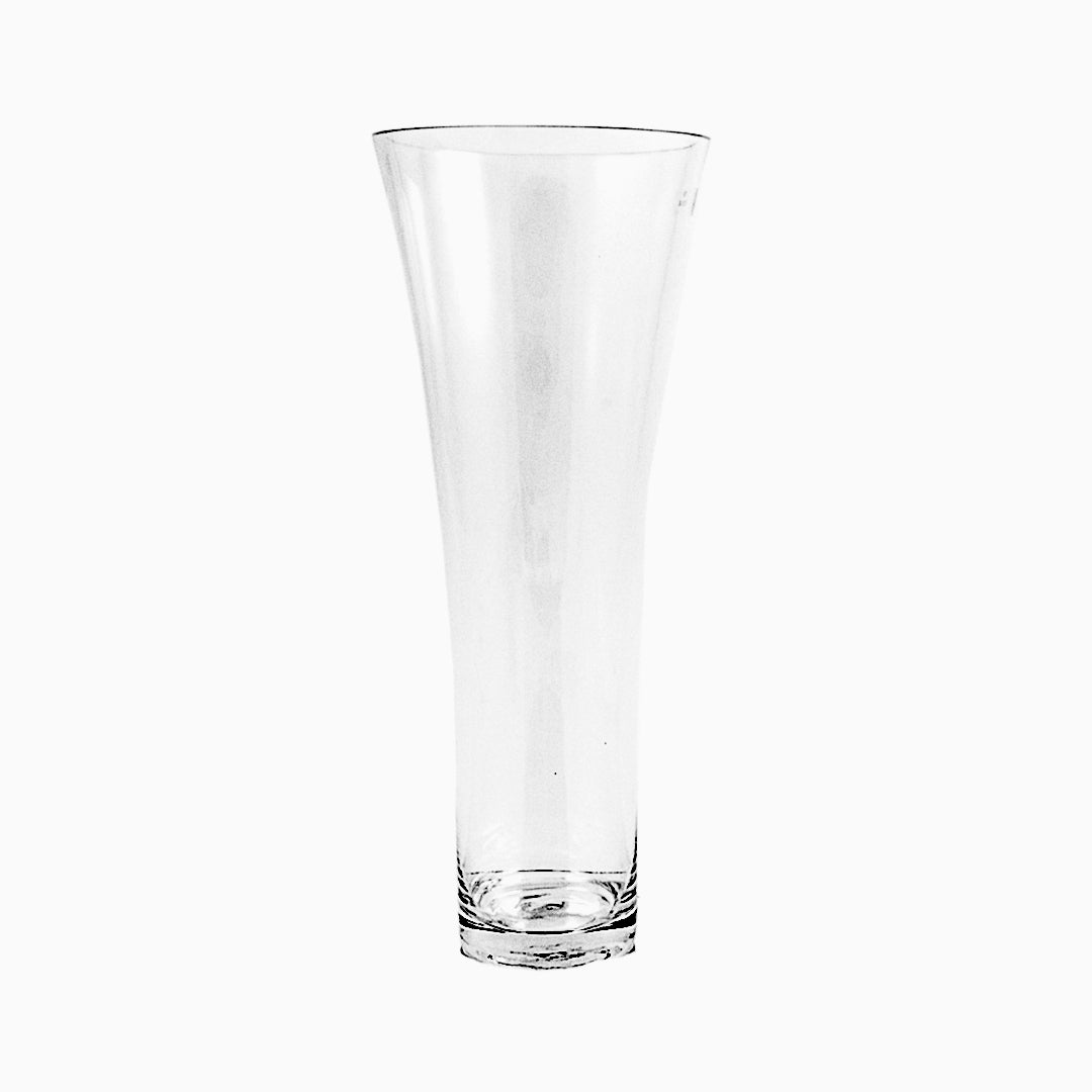 Clear Taper Flare Out Cylinder Glass Vases Pack of 4