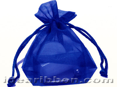 5 1/2 Inch x 10 Inch x 2 Inch Square Flat Bottom Organza Bags Pack of 20