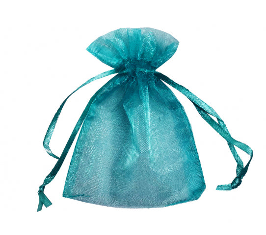 8 Inch x 10 Inch Organza Plain Sheer Gift Favor Bags Pack of 10