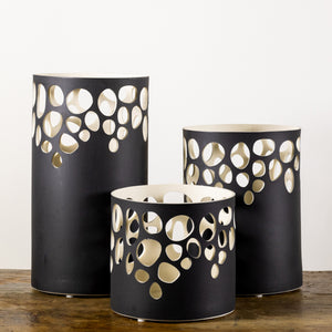 River Rock Black Luminary