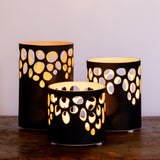 River Rock Black Votive