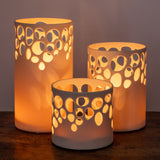 River Rock White Luminary