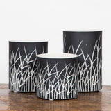 Tall Grass Black Votive