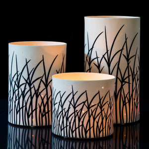 Tall Grass White Votive
