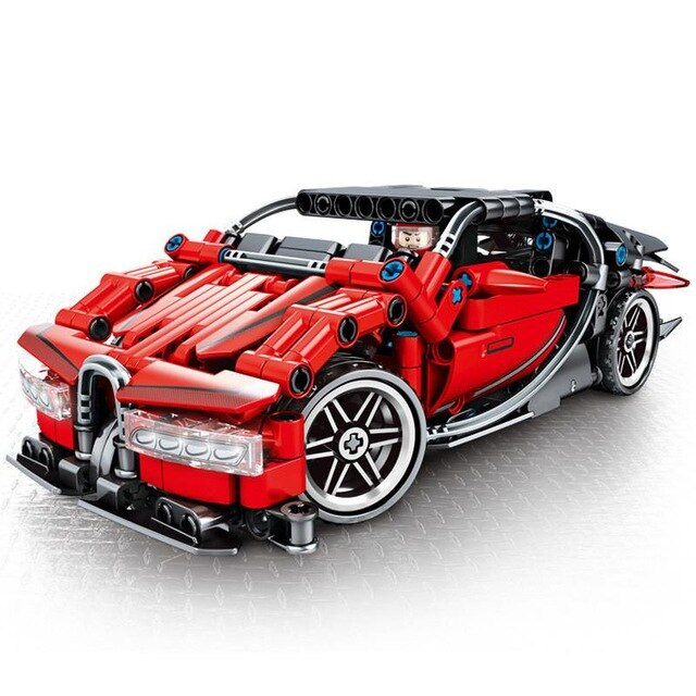 City Super Racers Compatible Legoed Supercar Bugatti Chiron Model Building Blocks Bricks Child Kids Toys Sets