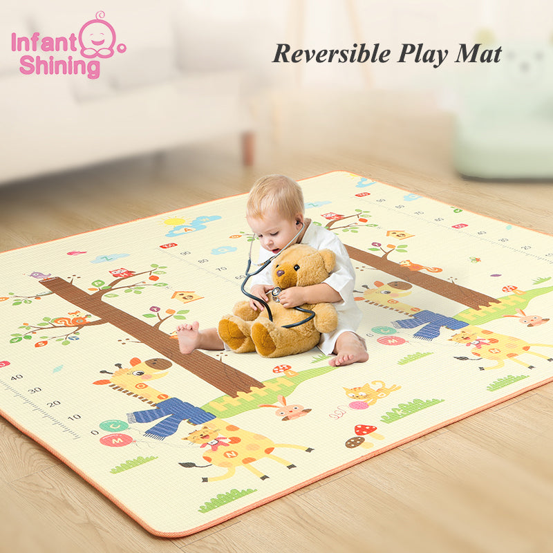 Infant Shining 200*180*1.5CM Baby Play Mat Thickening Eco-friendly EPE Children Playmat Cartoon Non-slip Carpet Living Room Mat
