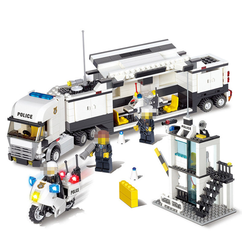 511pcs Police Station Car Truck Building Blocks Bricks Educational Compatible Legoings City Policeman Toys For Children Kids