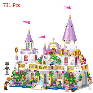 Girls Legoinglys Friends QL1106 731PCS Building Blocks Princess Windsor Castle Bricks 41148 Toys for Girl Christmas Gift