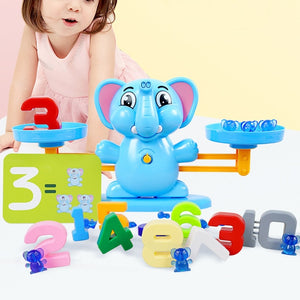 Toddler Scale Toy PVC Children Number Home Portable Gift Balancing Teaching Math Games Early Learning Smooth Desktop