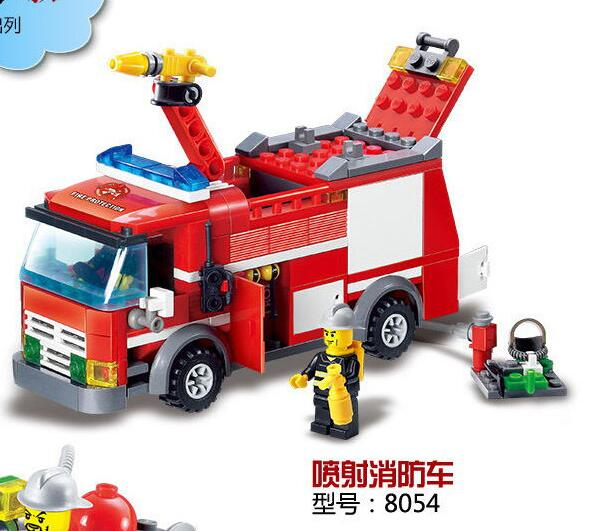 K Models Building Toys Compatible with Legoinglys City K8051~8059 Fire Blocks Toys Hobbies for Boys Girls Model Building Kits