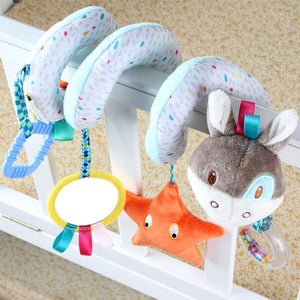 Soft Baby Toys 0-12 Months music Crib Stroller Hanging Spiral kids sensory Educational Toy For newborn babies rattles Bed Bell