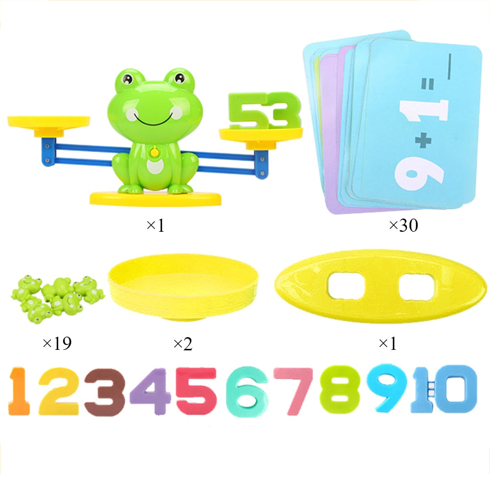 Frog Balance Scale Kids Baby Math Game Toy Children Enlightenment Digital Addition Subtraction Math Scales Puzzle Toys
