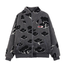 "Load image into Gallery viewer, ""CLOUDS"" PRINTED FLEECE JACKET"