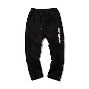 BEAR EMBROIDERY SUEDE JOGGERS