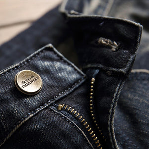BADGE HOLE SKINNY JEANS