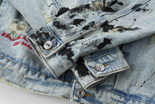 "Load image into Gallery viewer, ""X"" Denim Jacket"