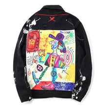 "Load image into Gallery viewer, ""GRAFFITI"" DENIM JACKET"