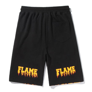 """FLAME SKULL"" PRINTED SHORTS"