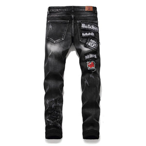 """KING"" WASH FRAYED SKINNY JEANS"