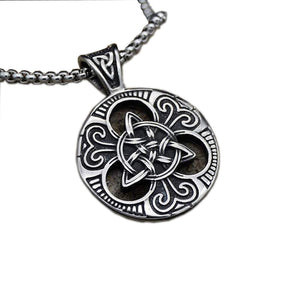 PUNK CONCENTRIC PENDANT NECKLACE