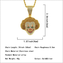 Load image into Gallery viewer, CLOWN PENDANT NECKLACE
