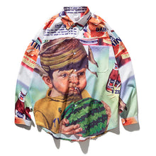 "Load image into Gallery viewer, ""WATERMELON BOY"" LONG SLEEVE SHIRT"