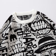 Load image into Gallery viewer, SKULL KNITTED SWEATER