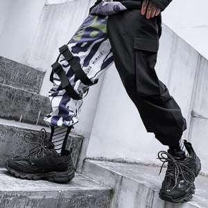 CONTRAST COLOR PRINTED JOGGERS