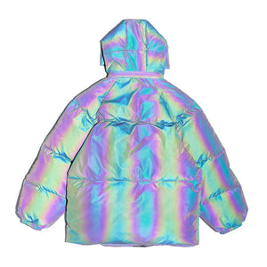 REFLECTIVE COLOR COTTON JACKET