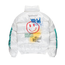 "Load image into Gallery viewer, ""SMILE"" GRAFITTI COTTON JACKET"