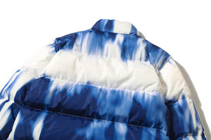 TIE DYE STAND COLLAR COTTON JACKET