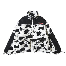 Load image into Gallery viewer, COW SPOTS TEDDY COAT JACKET