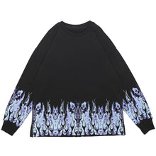 "Load image into Gallery viewer, ""FLAME SKULL"" PRINTED SWEATSHIRT"