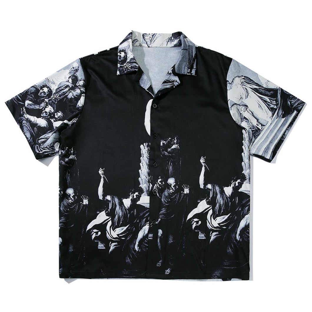RETRO PRINTED SHORT SLEEVE SHIRT