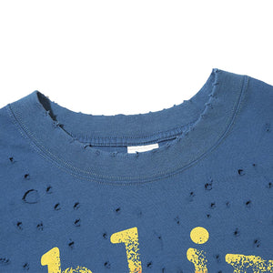 SUNFLOWER PRINTED HOLES T-SHIRT