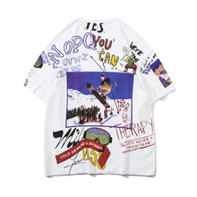 "Load image into Gallery viewer, ""SKIING"" GRAFFITI T-SHIRT"