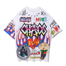 "Load image into Gallery viewer, ""CHAOS"" GRAFFITI T-SHIRT"