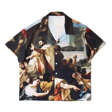 Load image into Gallery viewer, OIL PAINTING SHORT SLEEVE SHIRT