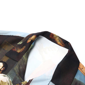 OIL PAINTING SHORT SLEEVE SHIRT