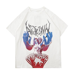 TWIN ANGELS PRINTED T-SHIRT