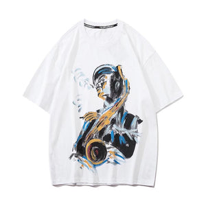 LACQUER PAINTING T-SHIRT