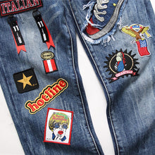Load image into Gallery viewer, EMBROIDERY STRETCHLESS SKINNY JEANS