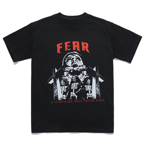 """FEAR"" PRINTED T-SHIRT"