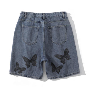 """BUTTERFLY"" PRINTED SHORTS"