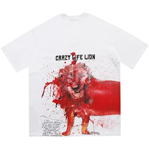 """LION"" PRINTED T-SHIRT"