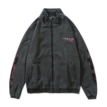 "Load image into Gallery viewer, ""WORDS"" GRAFFITI DENIM JACKET"