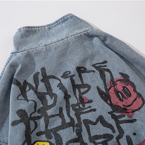 """WORDS"" GRAFFITI DENIM JACKET"