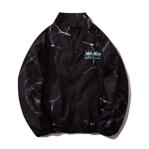 """LIGHTNING"" PRINTED WINDBREAKER JACKET"