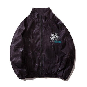 """DOG"" PRINTED WINDBREAKER JACKET"