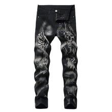 Load image into Gallery viewer, DEMON PRINTED SKINNY JEANS